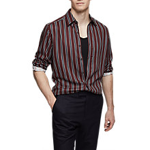 Buy Reiss Coltby Stripe Shirt, Bordeaux Online at johnlewis.com