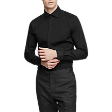 Buy Reiss Alnwick Stretch Slim Fit Shirt, Black Online at johnlewis.com