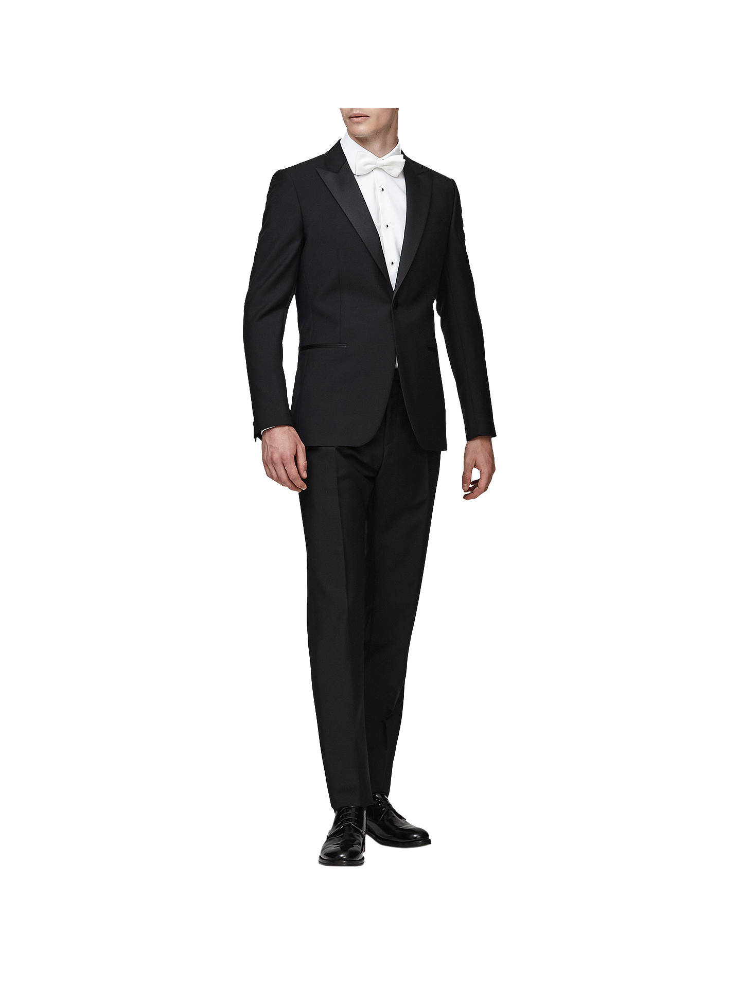 Buy Reiss Mayfair Peak Lapel Modern Fit Dinner Suit, Black, 36R Online at johnlewis.com