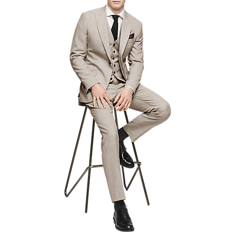 Buy Reiss Rover Peak Lapel Modern Fit Suit Jacket, Champagne Online at johnlewis.com