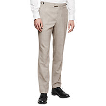 Buy Reiss Rover Modern Fit Suit Trousers, Champagne Online at johnlewis.com
