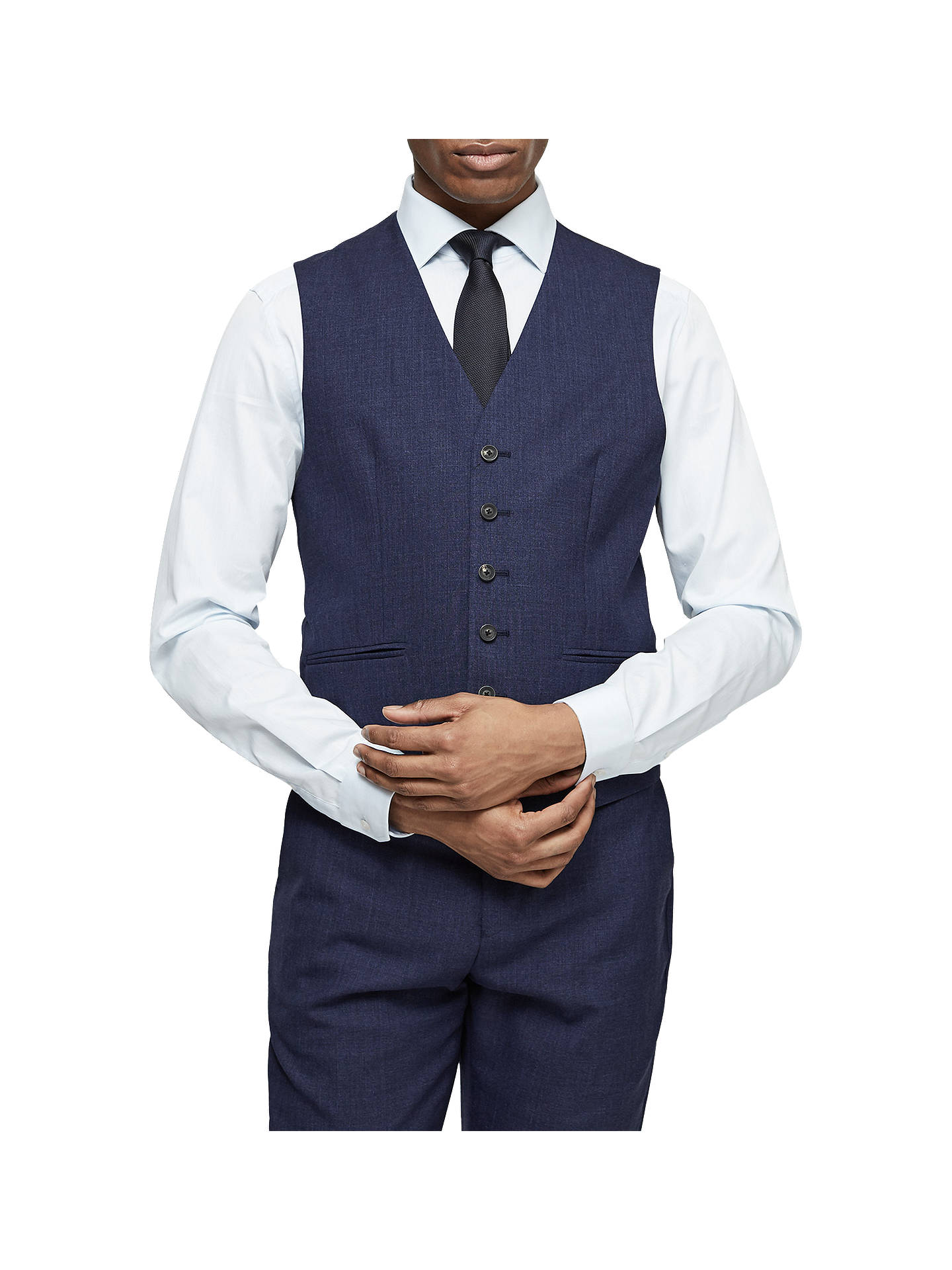 BuyReiss Rover Modern Fit Waistcoat, Bright Blue, 34R Online at johnlewis.com