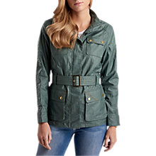 Buy Barbour International Bearings Linen Blend Jacket, Khaki Online at johnlewis.com