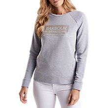 Buy Barbour International Bearings Sweatshirt, Light Grey Marl Online at johnlewis.com