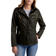 Buy Barbour International Leader Waxed Jacket, Fern Online at johnlewis.com