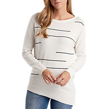 Buy Barbour International Track Jumper, White Online at johnlewis.com