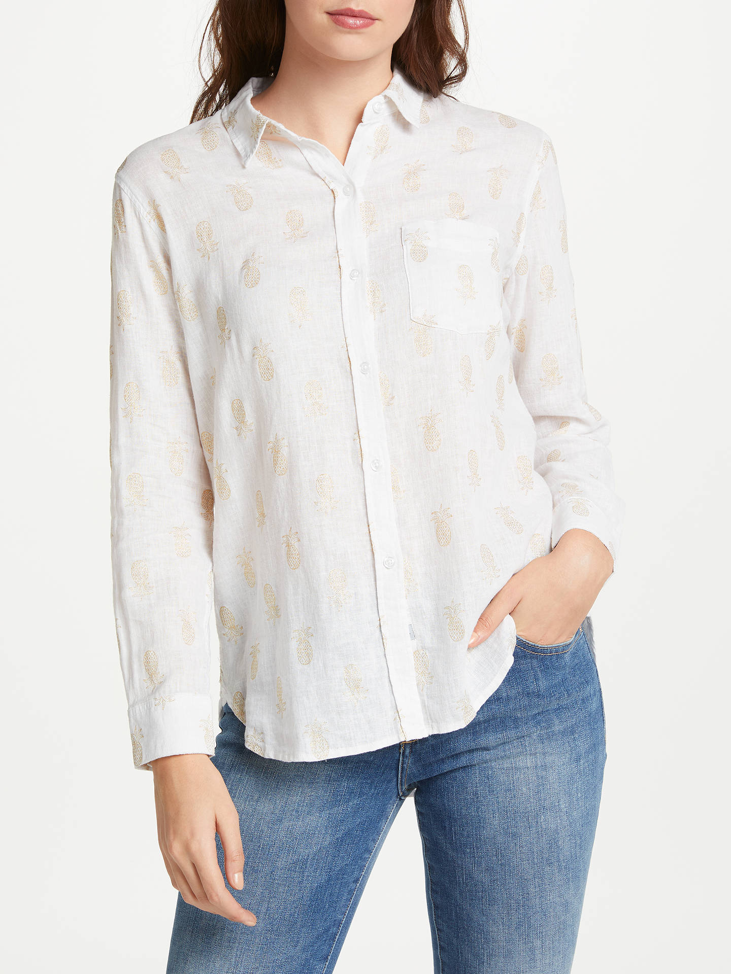 53b8744dc7a7 Buy Rails Charli Shirt, Gold Pineapples, XS Online at johnlewis.com ...
