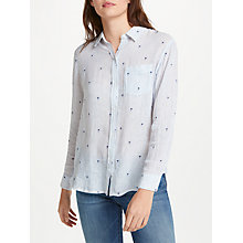 Buy Rails Charli Shirt, Mini Palms On Royal Stripe Online at johnlewis.com