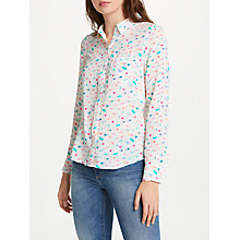 Buy Rails Kate Printed Silk Shirt, Watercolour Hearts Online at johnlewis.com