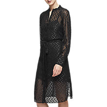 Buy Reiss Allura Metallic Burnout Dress, Metallic Online at johnlewis.com