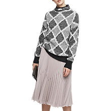 Buy Reiss Sophie Patterned Jumper, Black/White Online at johnlewis.com