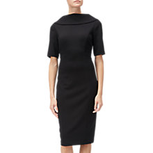Buy Adrianna Papell Roll Neck Sheath Dress, Black Online at johnlewis.com