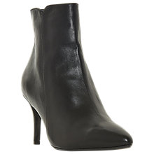 Buy Dune Onest Mid Stiletto Heel Ankle Boots, Black Leather Online at johnlewis.com