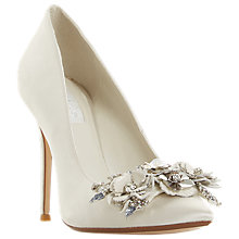 Buy Dune Bridal Collection Brydee Flower Garden Court Shoes, White Online at johnlewis.com