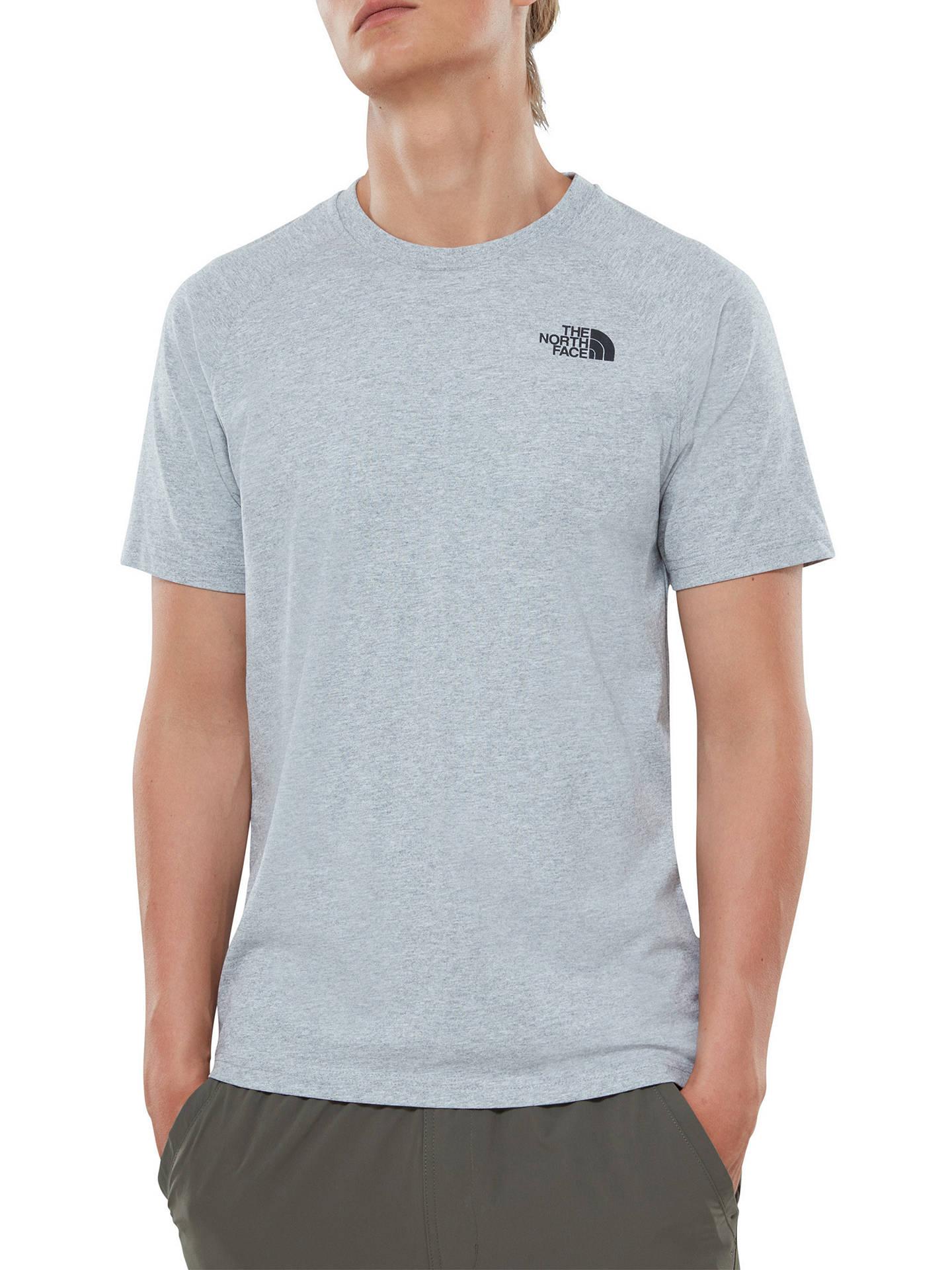 b97eebf0d The North Face Raglan T-Shirt, Light Grey Heath at John Lewis & Partners