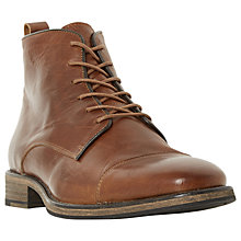 Buy Bertie Claxon Toecap Lace Up Boots, Tan Online at johnlewis.com