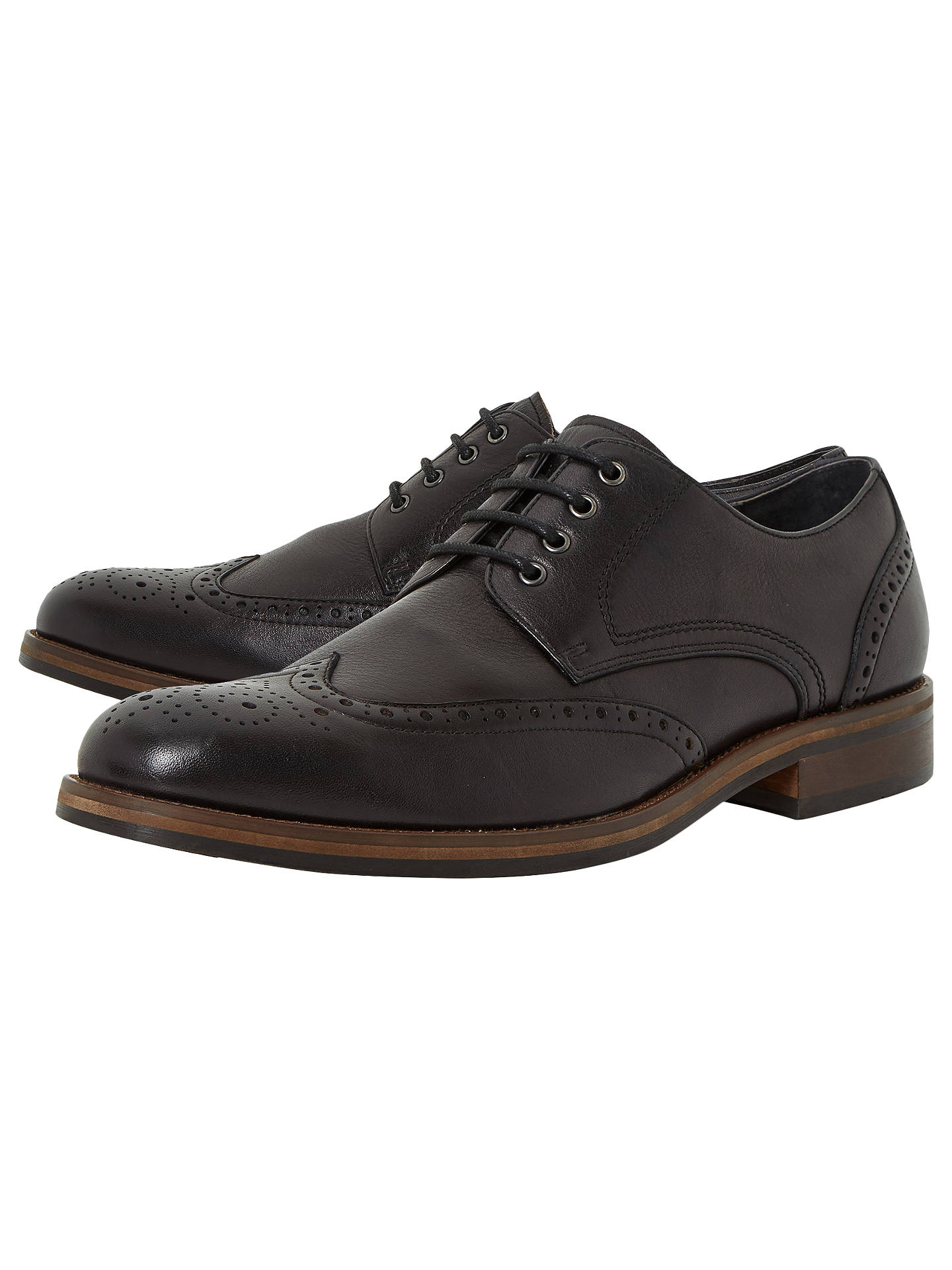 BuyBertie Packman Chunky Derby Brogues, Black, 6 Online at johnlewis.com