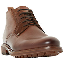 Buy Bertie Cell Plain Grain Short Chukka Boots, Tan Online at johnlewis.com