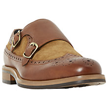 Buy Bertie Preach Double Buckle Monk Shoes, Tan Online at johnlewis.com