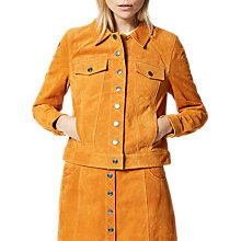 Buy Selected Femme Alta Suede Jacket, Desert Sun Online at johnlewis.com
