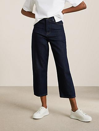 Kin Tapered Crop Denim Jeans, Indigo