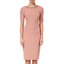 Buy Adrianna Papell Embellished Neck Dress, Antique Rose Online at johnlewis.com