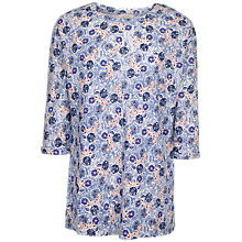 Buy Fat Face Annabelle Java Floral Top, Indigo Online at johnlewis.com