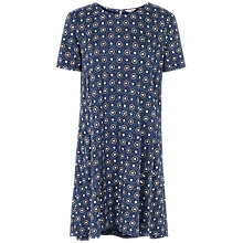 Buy Fat Face Simone Star Tile Dress, Navy Online at johnlewis.com
