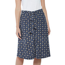 Buy Fat Face Mina Star Tile Skirt, Navy Online at johnlewis.com