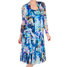 Buy Chesca Floral Print Mesh Dress and Bolero, Blue/Multi Online at johnlewis.com