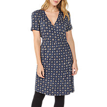 Buy Fat Face Georgia Star Tile Dress, Navy Online at johnlewis.com