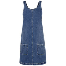 Buy Fat Face Dedee Pinafore Dress, Denim Online at johnlewis.com