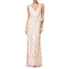 Buy Adrianna Papell Petal Tulle Dress, Blush Online at johnlewis.com