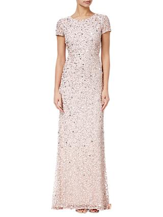 Adrianna Papell Scoop Back Sequin Evening Dress, Blush