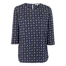 Buy Fat Face Tulip Star Tile Top, Navy/Multi Online at johnlewis.com