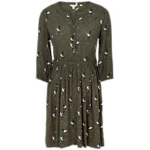 Buy Fat Face Maddison Humming Birds Dress, Dark Moss Online at johnlewis.com