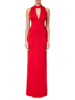 Buy Adrianna Papell Lola Maxi Dress, Red Fire, 6 Online at johnlewis.com