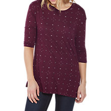 Buy Fat Face Annabel Daisy Ditsy Longline Top, Raisin Online at johnlewis.com