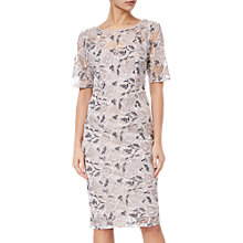 Buy Adrianna Papell Suzette Embroidered Dress, Pink Cinnamon Online at johnlewis.com