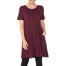 Buy Fat Face Simone Daisy Ditsy Dress, Raisin Online at johnlewis.com