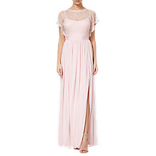 Buy Adrianna Papell Lace Long Dress, Satin Blush Online at johnlewis.com