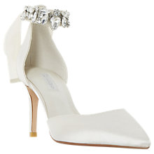 Buy Dune Bridal Collection Diamond Lace Pointed Toe Court Shoes, Ivory Online at johnlewis.com
