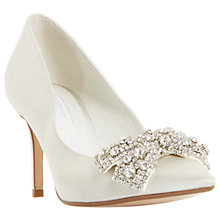 Buy Dune Bridal Collection Beaubelle Stiletto Heeled Court Shoes, Ivory Online at johnlewis.com
