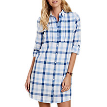 Buy Barbour Bamburgh Check Shirt Dress, Blue/White Online at johnlewis.com