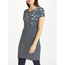 Buy Barbour Faeroe Seagull Print Dress, Navy Online at johnlewis.com