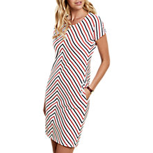 Buy Barbour Whitmore Striped Dress, White/Navy/Orange Online at johnlewis.com