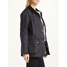 Buy Barbour Whitby Waxed Jacket, Royal Navy Online at johnlewis.com
