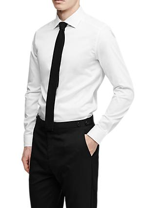 Reiss Control Cotton Slim Fit Shirt, White