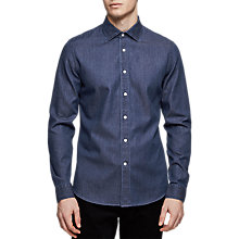Buy Reiss Dekyser Slim Fit Denim Shirt, Blue Online at johnlewis.com