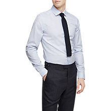 Buy Reiss Niko Houndstooth Check Slim Fit Shirt, Soft Blue Online at johnlewis.com